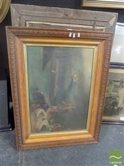 Sale 8483 - Lot 2046 - Group of (2) Early 20th Century Oil Paintings (AF), frame sizes: 64 x 85cm; 68 x 93cm