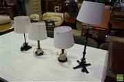 Sale 8523 - Lot 1034 - Collection Of Four Table Lamps