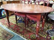 Sale 8562 - Lot 1016 - Cedar Drop Side Oval Table on Turned Legs