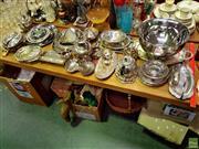 Sale 8582 - Lot 2200 - Platedwares incl Teapots, Platters etc