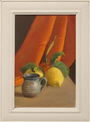 Sale 8655 - Lot 2002 - Dorothy Allen Edwards (1907 - ) - Still Life with Lemon 37.5 x 24.5cm