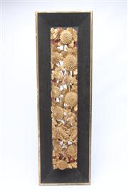 Sale 8670 - Lot 86 - A Chinese Temple Carving of Chrysanthemums and Birds, 81.5 x 25cm (frame size)