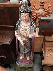 Sale 8700 - Lot 1050 - Pair of Chinese Fibreglass Figure of Goddess