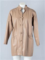 Sale 8828F - Lot 31 - A Beige Leather Jacket, Size Medium