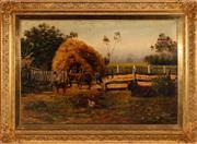 Sale 8871H - Lot 83 - J. H. Scheltema - Resting Livestock 60x90cm
