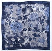 Sale 8910F - Lot 8 - A Basler printed satin scarf in blue and grey tones, presumed silk