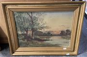 Sale 9011 - Lot 2028 - Artist Unknown - Sun Set, Oil, 30.5x44cm
