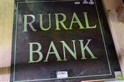 Sale 8511 - Lot 1090 - Vintage Rural Bank Brass Sign