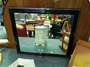 Sale 8620 - Lot 1071 - Black Timber Framed Mirror