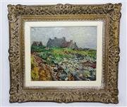 Sale 8770A - Lot 85 - Impressionist landscape by Daniel De Paris early 20th C French oil on canvas signed 38 x 46 cm