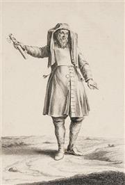 Sale 8838A - Lot 5132 - Augustin Calmet (1672 - 1757) - Juif Tenant Le Mezuzoth 33 x 21cm