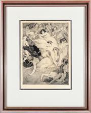 Sale 8871H - Lot 109 - Norman Lindsay - Nude Studies 20x15cm