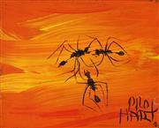 Sale 8881 - Lot 564 - Kevin Charles (Pro) Hart (1928 - 2006) - Ants 13 x 10 cm