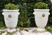 Sale 8950G - Lot 43 - Pair of Kew Royal Botanic Garden pots 57cm Height not including plant 36 cm Diameter