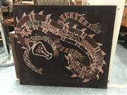 Sale 9072 - Lot 2059 - Tribal Dragon - Natural Pigments on Linen