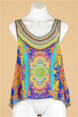 Sale 9250F - Lot 4 - A Camilla multicoloured silk tank top, size S.