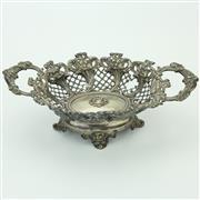 Sale 8390A - Lot 40 - Italian Silver 800 Standard Pierced Basket