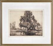 Sale 8382 - Lot 587 - Sydney Long (1871 - 1955) - The Land of the Lavender 26.5 x 35cm