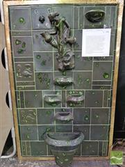 Sale 8421 - Lot 1074 - A Vintage Ceramic Water Feature, featuring maiden and baison, ex Kalamazoo Australia Ltd, Head Office Lane Cove, Circa 1958