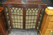 Sale 8431 - Lot 1012 - Antique English Walnut China Cabinet