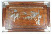 Sale 8436 - Lot 63 - Chinese Silver Inlaid Tray