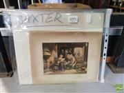 Sale 8552 - Lot 2091 - George Baxter (1804 - 1867) News From Australia & News from Home, Hand Coloured Lithographs, various sizes