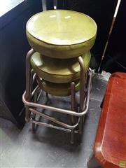 Sale 8585 - Lot 1704 - Set of 3 Barstools