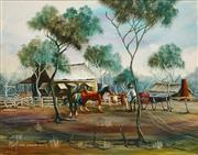 Sale 8652 - Lot 524 - Max Mannix (1939 - ) - The Shearing Shed 39.9 x 49.5cm