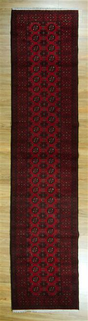 Sale 8657C - Lot 38 - Afghan Turkman Runner 380cm x 82cm