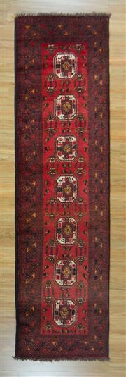 Sale 8672C - Lot 10 - Afghan Qunduzi 300cm x 86cm