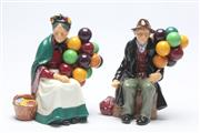 Sale 8677 - Lot 17 - Royal Doulton Figures: The Old Balloon Seller & The Balloon Man (2)