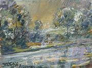 Sale 8704 - Lot 537 - Harald Vike (1906 - 1987) - Landscape, 1966 45.5 x 60cm