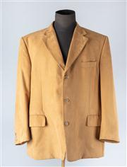 Sale 8828F - Lot 35 - A Mens Suede Microfibre Blazer Jacket In Mustard By Odermarc, Size 58
