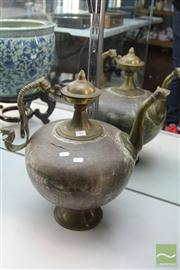 Sale 8285 - Lot 17 - Large Brass Ewer