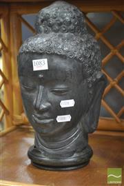 Sale 8289 - Lot 1083 - Composite Buddha Head on Stand