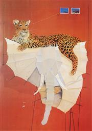 Sale 8738A - Lot 5097 - Graeme Townsend (1954 - ) - Leopards Paper Lair, 1981 96 x 67cm (sheet: 106 x 78cm)