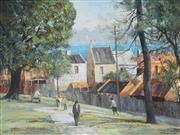 Sale 8764A - Lot 5017 - Stewart Mckenzie Cullen (1933 - ) - Harbour Terraces 44 x 60cm