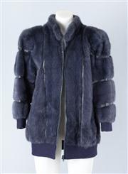 Sale 8828F - Lot 15 - A Denim Blue Mink Blouson Jacket By Hammerman Furs, Size Medium