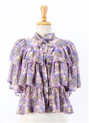 Sale 8891F - Lot 7 - A Giuseppe di Morabito, Milano floral printed silk layered blouse, approx size 6/8