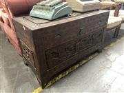 Sale 8896 - Lot 1066 - Ornate Chinese Trunk