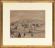 Sale 8994H - Lot 71 - John Nash, British, (1893 - 1977) - landscape 30 x 37cm