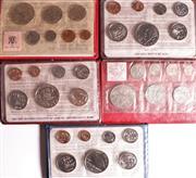 Sale 9015 - Lot 18 - Set of Five NZ Mint Sets incl. 1969, 1974, 1981-83 in Original Mint Wallets
