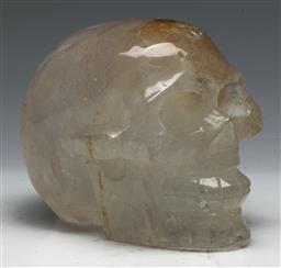Sale 9138 - Lot 80 - A Quartz Crystal Skull (L: 13cm)