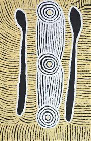 Sale 8288A - Lot 79 - Linda Syddick Napaltjarri (1937 - ) - Tingari 95 x 60cm