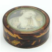 Sale 8390A - Lot 71 - Tortoiseshell Snuff Box with a Painted Miniature