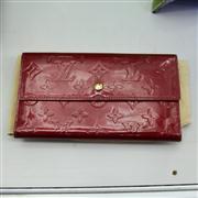 Sale 8379 - Lot 88 - Louis Vuitton Monogram Vernis Leather Porte-Tresor Wallet; internal tag date no. TH1006