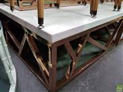 Sale 8589 - Lot 1018 - Modern Marble Top Coffee Table (42 x 100 x 100cm)
