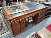 Sale 8601 - Lot 1449 - Twin Pedestal Desk