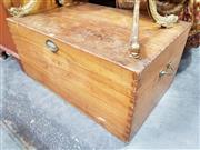 Sale 8717 - Lot 1093 - Vintage Pine Travellers Trunk