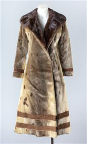 Sale 8828F - Lot 22 - An Alaskan Seal Full-Length Coat With Removable Mink Collar By Hammerman Furs, Size Small/Medium